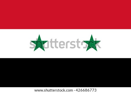 syria flag  official colors and