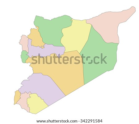 Free vector map of syria free vector art at vecteezy syria highly detailed editable political map gumiabroncs Images