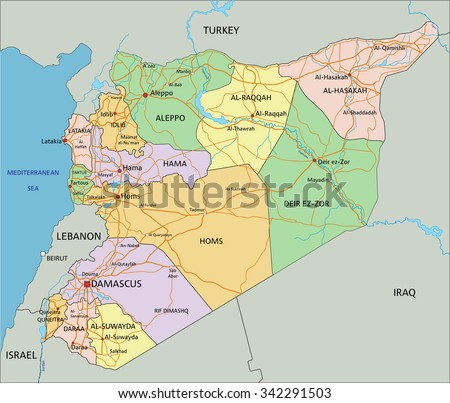 Free vector map of syria free vector art at vecteezy syria highly detailed editable political map with labeling gumiabroncs Images