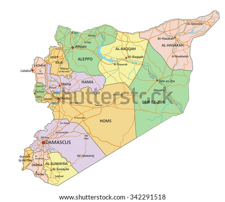 Free vector map of syria free vector art at vecteezy syria highly detailed editable political map with labeling gumiabroncs Gallery