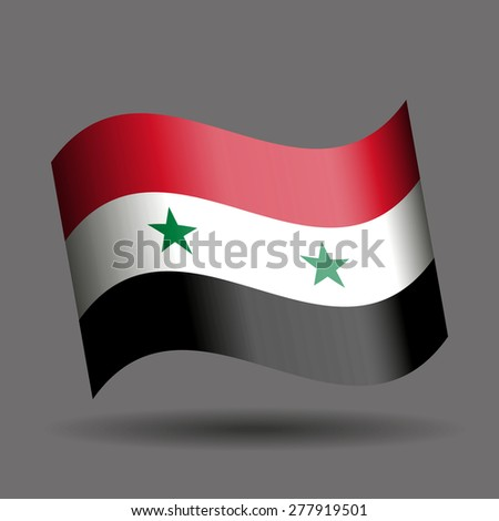 syria waving flag