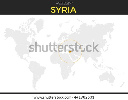 Grayscale vector worldmap download free vector art stock graphics syrian arab republic syria location modern detailed vector map all world countries without names gumiabroncs Image collections