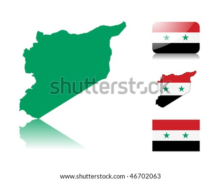syrian map including  map with