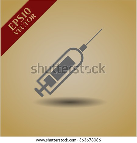 Syringe vector icon