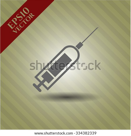 Syringe vector icon or symbol