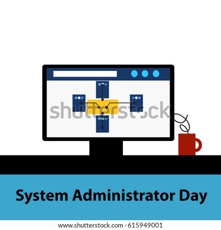 system administrator flat design