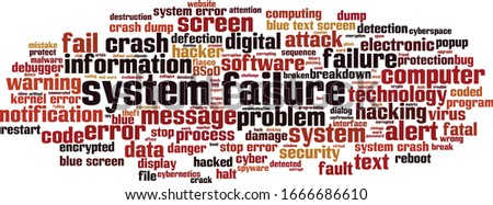system failure word cloud