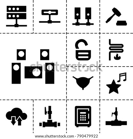 system icons set of 13