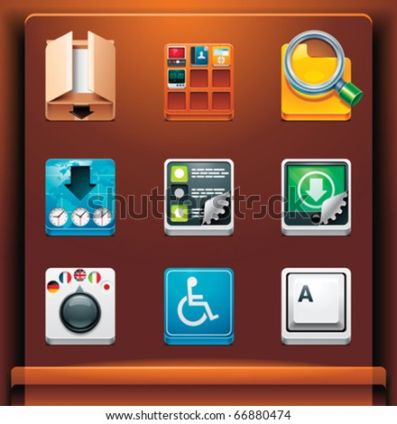 System tools. Mobile devices apps/services icons. Part 10 of 12