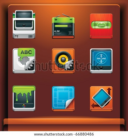 System tools. Mobile devices apps/services icons. Part 9 of 12