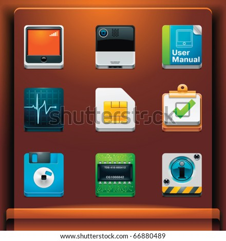 System tools. Mobile devices apps/services icons. Part 7 of 12