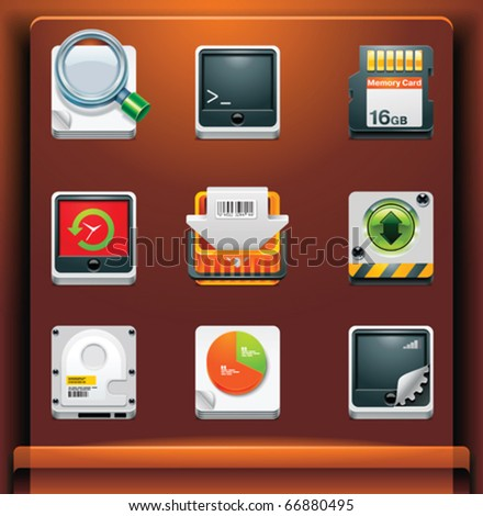 System tools. Mobile devices apps/services icons. Part 8 of 12