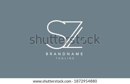 SZ Alphabet initial Letter Monogram Icon Logo vector illustration Stock fotó ©