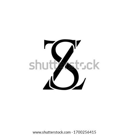 sz letter original monogram logo design Stock fotó ©