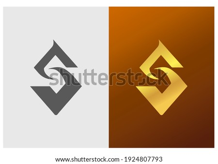 SZ SJ monogram logo. Letter S creative typographic icon. Lettering sign. Geometrical alphabet initials isolated on light background. Modern, web, tech, corporate style characters for company branding. Stock fotó ©