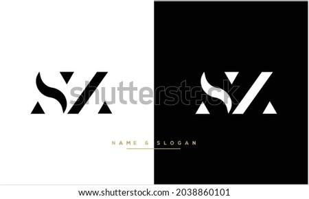 SZ ,ZS Abstract Letters Logo monogram Stock fotó ©