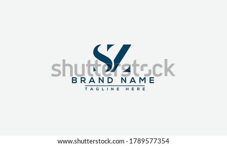 SZ, ZS Logo Design Template Vector Graphic Branding Element. Stock fotó ©