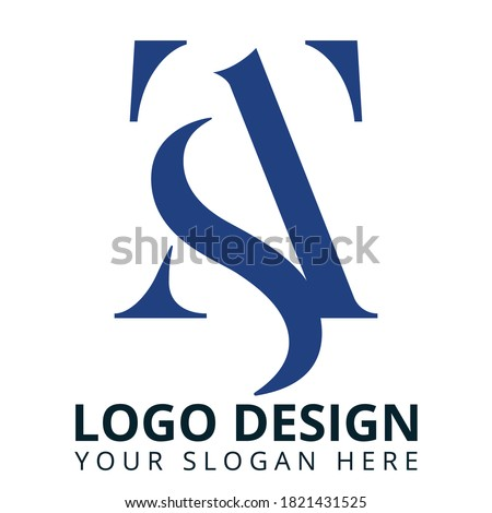 T A S Letter Business Consulting Logo Design Stock fotó ©