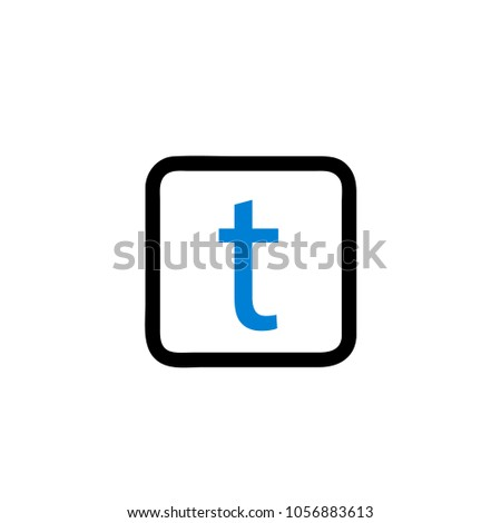t font icon for button twitter