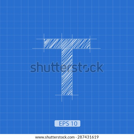 t letter architectural plan on