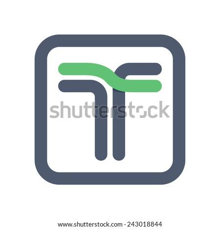 T letter line logo Stock fotó ©