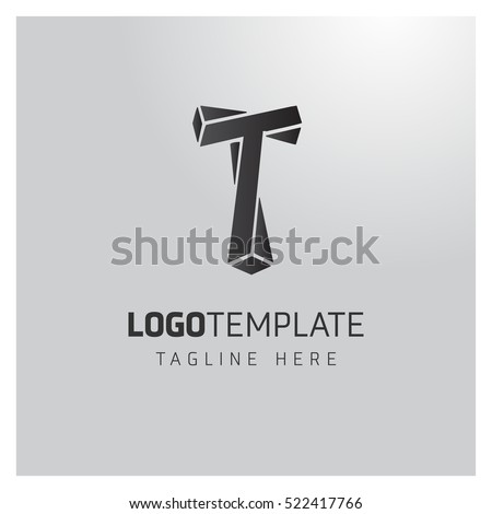 t letter logo formed by twisted