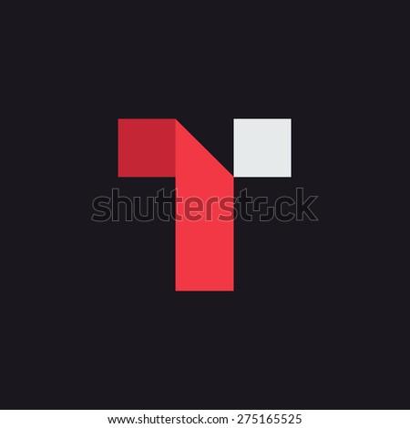 t letter logo icon design