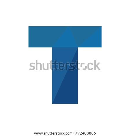 T Letter Origami Logo 792408886
