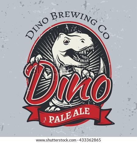t rex brewery insignia design