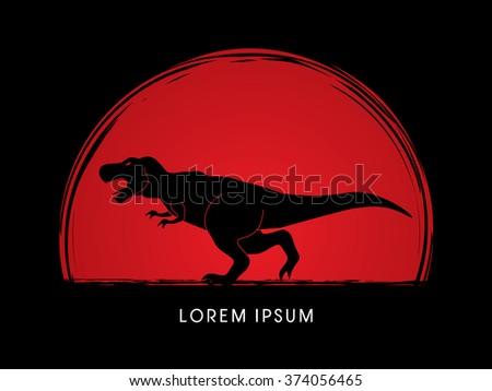 t rex dinosaur designed on