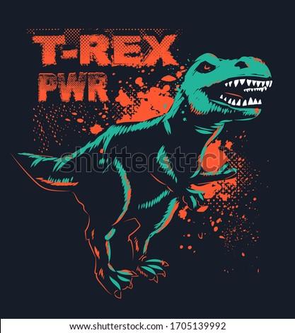 t rex  t shirt design with