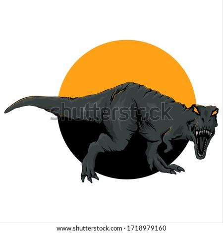 t rex yellow eyed killer vector