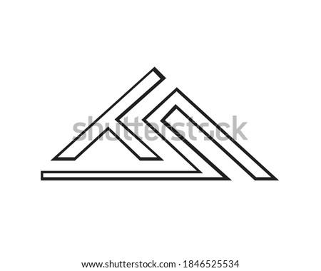 t s and l s logo designs and monogram logos Stock fotó ©