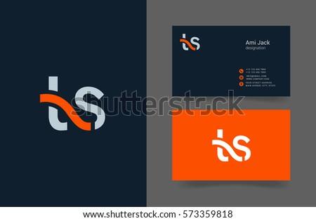 T & S Letter logo design vector element Stock fotó ©