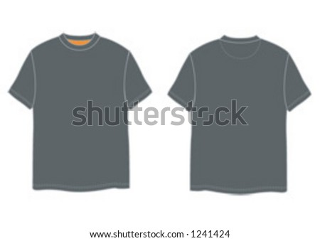 T-shirt back and front - Shutterstock ID 1241424