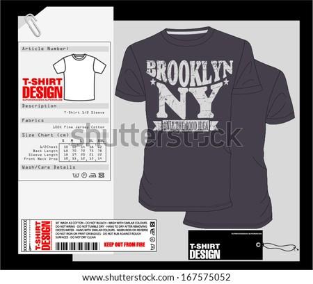 T-Shirt Design Print Design College Varsity T-Shirt