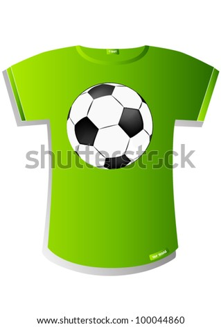 T-Shirt Design Soccer ball