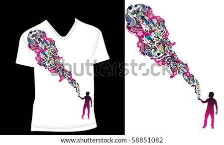 t-shirt design template. editable vector illustration