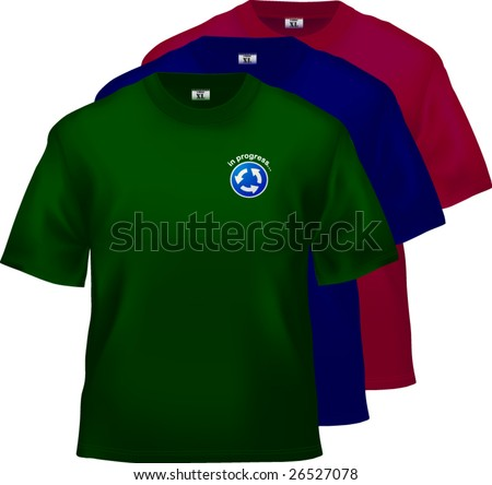 T-shirt design templates - popular dark colors. Vector, lot of details!