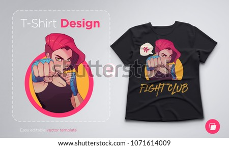 t shirt design with angry