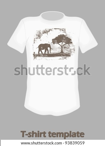 t-shirt design with elephant print