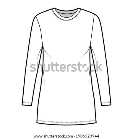t shirt dress technical fashion