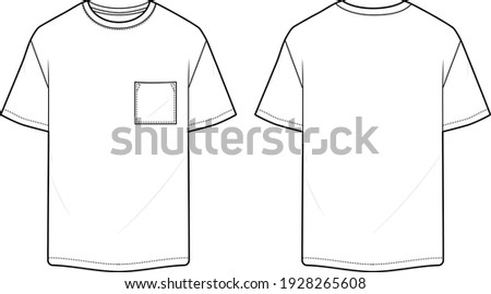 t shirt for man classic design with pocket Foto stock ©