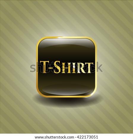T-Shirt gold badge