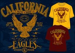 t-shirt graphics,california eagles