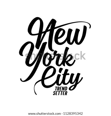 t shirt graphics, tee print design. New york city slogan/ Vector art template