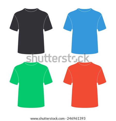 t-shirt icon - colored vector illustration