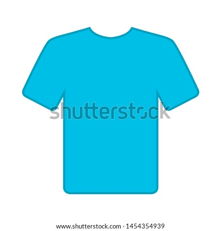 T shirt icon. flat illustration of T shirt. vector icon. T shirt sign symbol