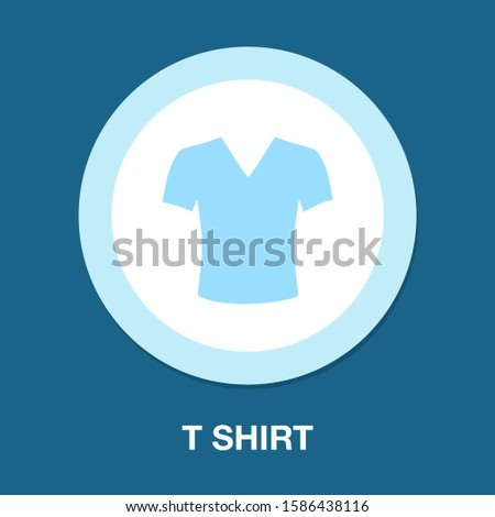 t-shirt icon - t-shirt isolated , fashion t-shirt illustration- Vector t-shirt