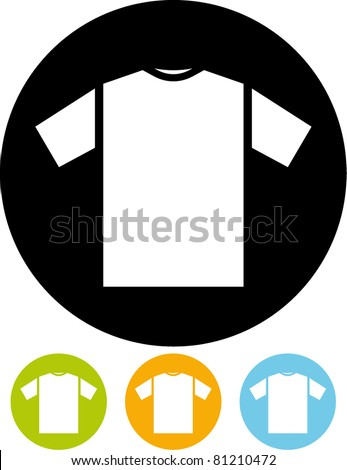 T-shirt icon (Vector)